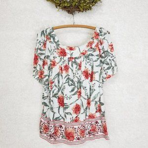 50% OFF - Lucky Brand Floral print White Top